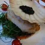 Hake and Caviar Main Meal