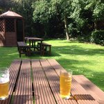 Nice cold pint at the Blue Inn