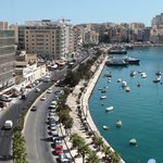 View on Sliema from roof terrace