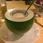 An unusual desert with Tender Coconut in Cream
