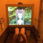 TV in the toilet