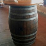 In our tasting room, made from real barrels