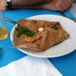 Crêpe végétarienne aux saveurs de l'inde