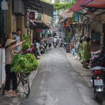 One step outside and you're right in the hustle and bustle of Hanoi!