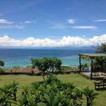 View of the sea from the resort's garden
