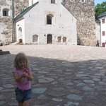 Ella in the yard of the castle