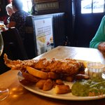 Fish and Chips with mashy peas