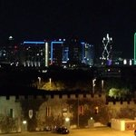 Night view of the castle & Dallas skyline