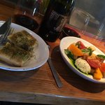 Bread and Heirloom tomato salad