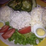 This chicken salad platter was lip smacking good!