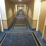 Hallway shaped like a gutter