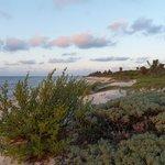 La spiaggia oltre il resort per camminate salutari!