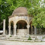 The Ottoman ablution fountain in front of the Plane Tree of Hippocrates