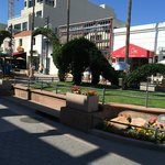 Dino topiary at the Third Street Promenade