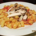 Gnocchi with porcini and tomatoes