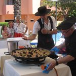 Paella Cooking Demo By the Pool
