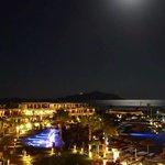 Supermoon over Sensatori Sharm and Tiran Island. 