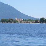 Der Blick auf Bunaken Village bei er Anreise