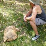 Aaron with Tortoise