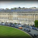 A 'permitted photograph' - The Royal Crescent from upstairs at No. 1