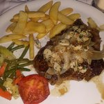 Steak with onions