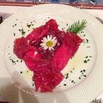 Caramelle di carne salada con ricotta di malgha