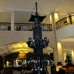The elephant fountain in the lobby