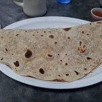 Huge breakfast taco, loaded