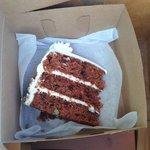 Carrot cake in a to go box