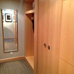 large closet area/doors to the bathroom