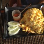 Breakfast - Rice with omelet. Order from hot menu (included with buffet)