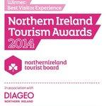 "Northern Ireland Tourist Board winner of ""Best Visitor Experience 2014"""