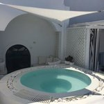 jacuzzi and seating area