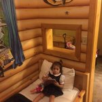 The day bed in the kids cabin