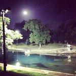 Barton springs at night.