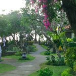 Beautiful gardens leading to the beach front
