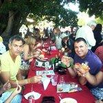 Enjoying the food and wine at Blaauwklippen Market