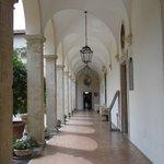 Corridor alongside the courtyard