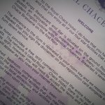 The Royal Chace's welcome letter