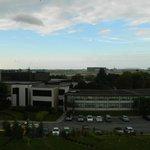 View from top floor accessible corner room