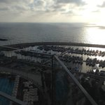 """View of the Marina & ocean from our """"Sea View""""room"""
