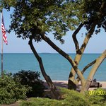view of Lake Huron from patio