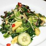 Black Kale, apple salad