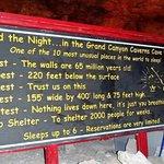 Sign inside Cavern