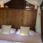 Bedroom inside bungalow