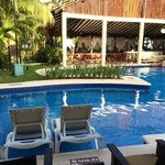 our room right oposite swim up bar