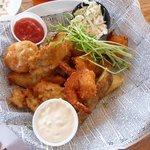 Schaefer's Fried Combo (oysters, shrimp & crab cake)