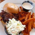 Schaefer's BBQ Pulled Pork & Sweet Potato Fries (add Marshmallow Sauce)