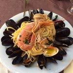 Spaghetti alla pescatora ��(senza aglio)!!!!