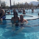 in the hot pool